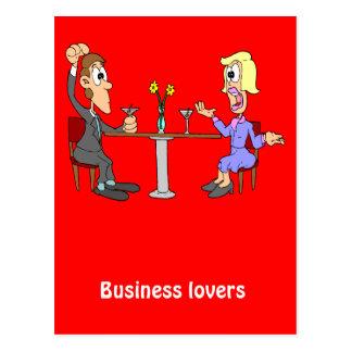 Amants 2 d'affaires carte postale