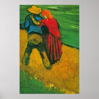 Amants de Van Gogh deux Poster