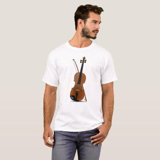 Amants de violon, T-shirt musical d'instruments de