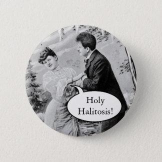 Amants vintages romantiques sur un bateau badge rond 5 cm