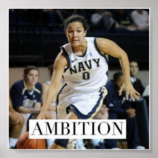 Ambition - affiche de motivation de basket-ball