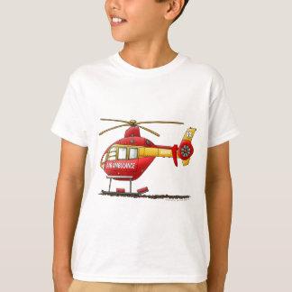 Ambulance médicale d'hélicoptère de délivrance de t-shirt