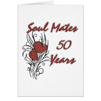 Âme s?ur 50 ans carte de vœux