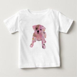 Amende blanche Jersey de T-shirt de bébé de