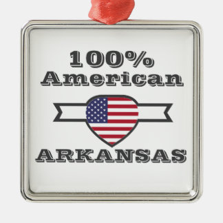 Américain de 100%, Arkansas Ornement Carré Argenté