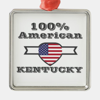 Américain de 100%, Kentucky Ornement Carré Argenté