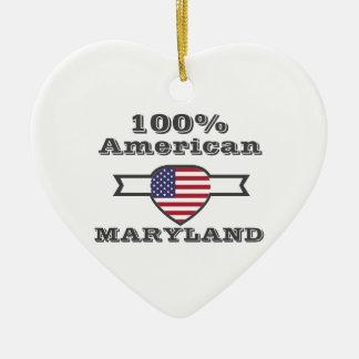 Américain de 100%, le Maryland Ornement Cœur En Céramique