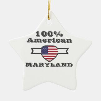 Américain de 100%, le Maryland Ornement Étoile En Céramique