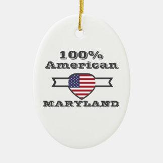 Américain de 100%, le Maryland Ornement Ovale En Céramique
