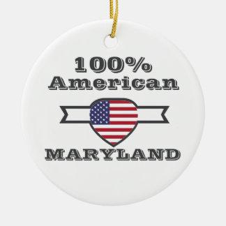 Américain de 100%, le Maryland Ornement Rond En Céramique