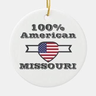 Américain de 100%, Missouri Ornement Rond En Céramique