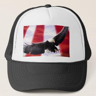 Américain Eagle et casquette de drapeau