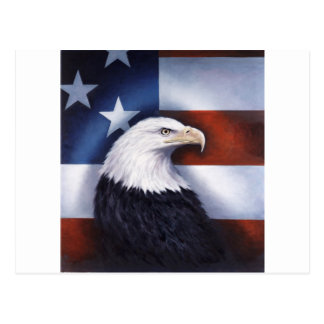 Américain Eagle et drapeau Carte Postale