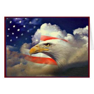 Américain patriote Eagle et carte de drapeau