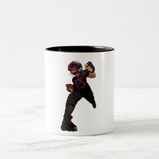 American football player for kids. tasse 2 couleurs
