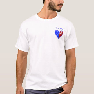 Amerikaans vlaghart aangepast man van eeroverhemd t shirt