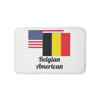Amerikaanse en Belgische Vlag Badmat