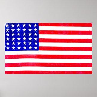 Amerikaanse Vlag 1865 van de Burgeroorlog Poster