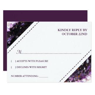 Améthyste Geode | RSVP l'épousant violet Carton D'invitation 8,89 Cm X 12,70 Cm