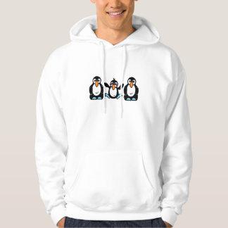 Amis adorables de pingouin veste à capuche