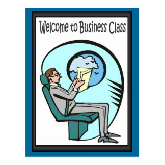 Amis d'affaires, accueil à la classe d'affaires carte postale