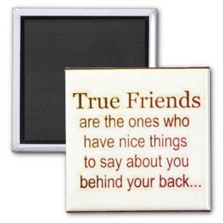 Amis vrais magnet carré