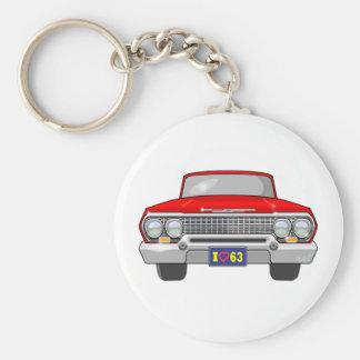 Amour 1963 d'I Chevrolet Porte-clé Rond