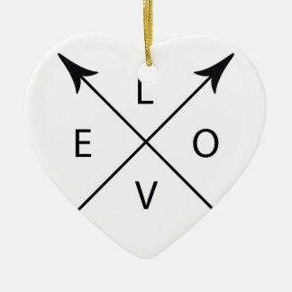 Amour avec des flèches ornement cœur en céramique