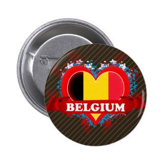 Amour Belgique du cru I Badge Rond 5 Cm