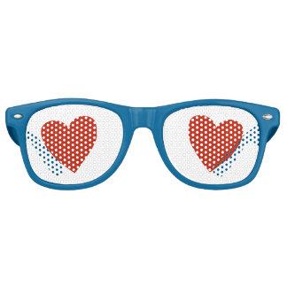 Amour d'amour lunettes de fête retro