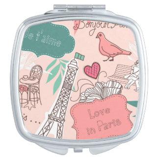 Amour dans le rose de motif de Paris