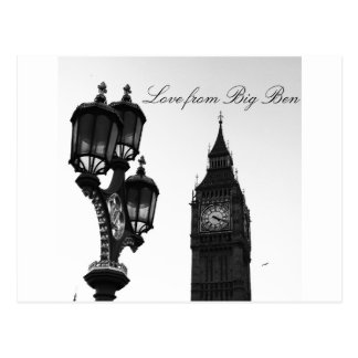 Amour de Big Ben, carte postale de Londres