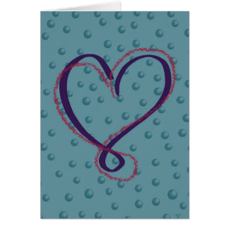 Amour de bulle : carte de voeux vierge