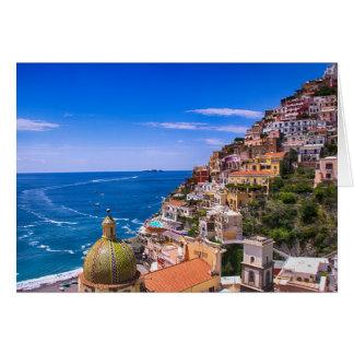 Amour de carte postale de Positano Italie