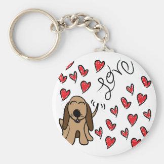 Amour de chien de chasse porte-clés