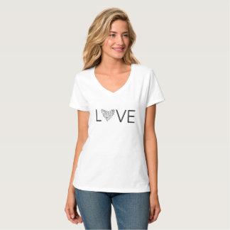 Amour de coeur - V - pièce en t de cou T-shirt