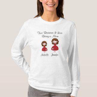 Amour de deux raisons I étant une maman T-shirt