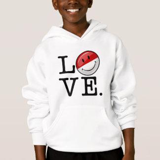 Amour de drapeau de sourire de Mpnaco