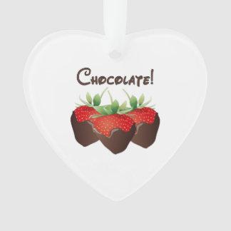 Amour de fraise de chocolat