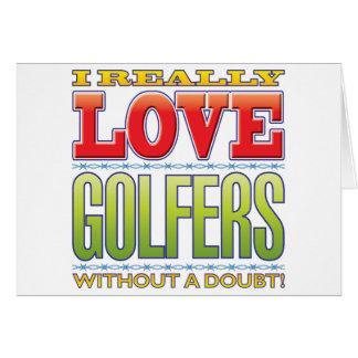 Amour de golfeurs cartes de vœux