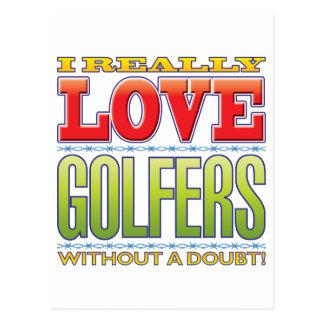 Amour de golfeurs cartes postales