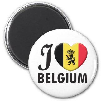 Amour de la Belgique v2 Magnet Rond 8 Cm
