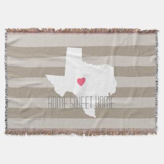 Amour de l'État d'origine de carte du Texas avec Couvre Pied De Lit
