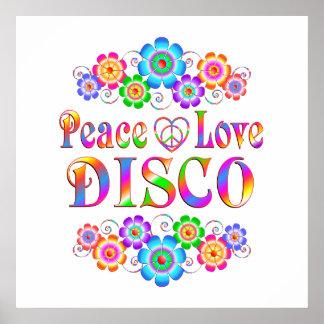 Amour de paix de disco poster