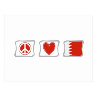 Amour de paix et carrés du Bahrain Carte Postale