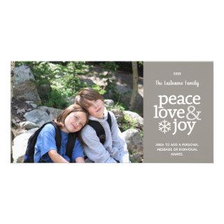 Amour de paix et joie - carte photo moderne