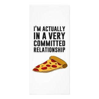Amour de pizza de pepperoni - un rapport sérieux carte double customisable