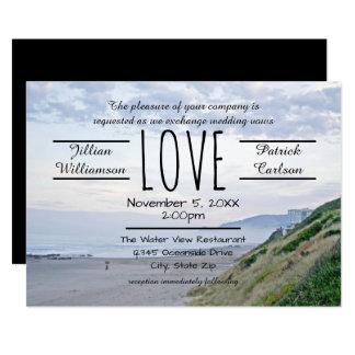 Amour de plage/océan - faire-part de mariage