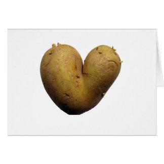 Amour de pomme de terre carte