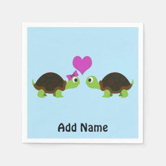 Amour de tortue serviette en papier